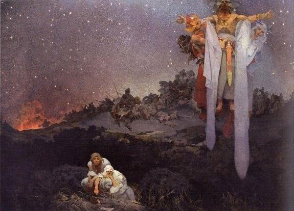 Славяне на своей земле. Худ. А. Муха. 1912 г.