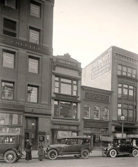 На одной из многочисленных улиц Америки. Фото: 1920-е гг.