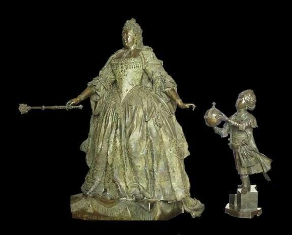 Анна Иоанновна с арапчонком. Скульптор Б. Растрелли, 1741 г., Государственный Русский музей, Санкт-Петербург