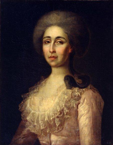 Портрет А. В. Радищевой (первой жены Радищева). Неизв. художник. 1780-е гг.