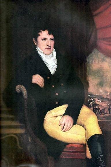 Портрет Мануэля Бельграно. Худ. К. Карбонье, 1815, Муниципальный музей изящных искусств Dámaso Arce, Олаваррия, Аргентина