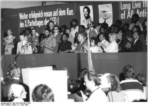 Морис Бишоп во время официального визита в ГДР. Фото: 11 июня 1982 г.