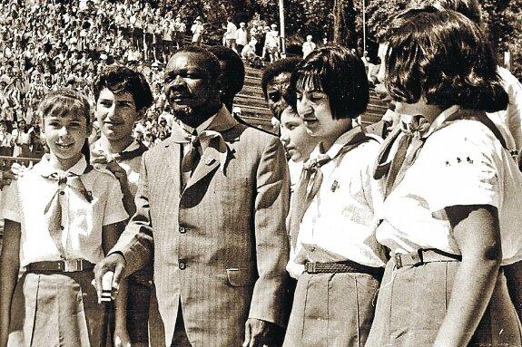 Бокасса в Артеке, 28 августа 1973 г.