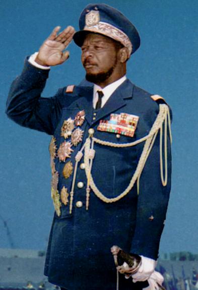 Бокасса во время визита в Румынию, март 1972 г.