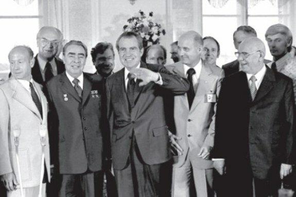 Р. Никсон во время официального визита в Москву, май 1972 г.