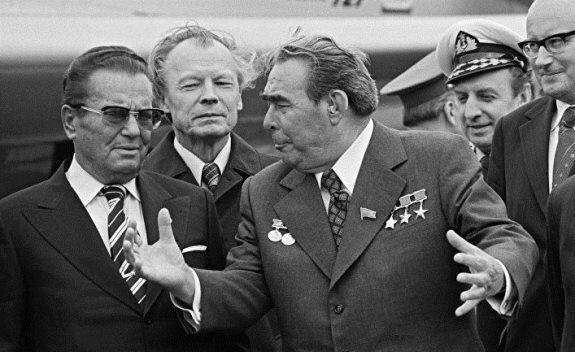 Брежнев и Тито. Фото: 1971 г.