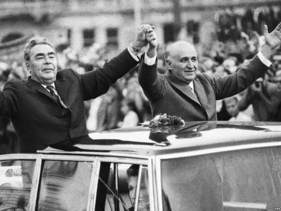 Брежнев и Живков. Фото: сентябрь 1973 г.