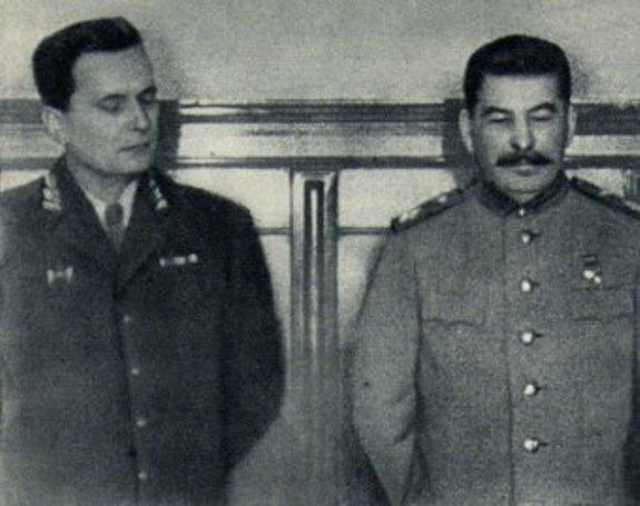 Сталин и Тито. Фото: 1945 г.