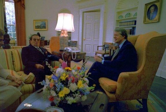 Броз Тито (слева) и Джимми Картер. Фото: 1978 г.