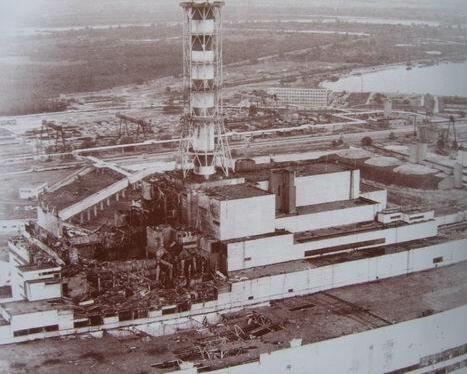 Чернобыльский реактор после аварии
