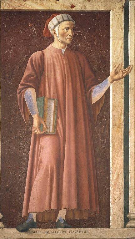Данте на фреске