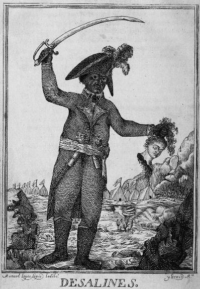 Жан-Жак Дессалин во время резни белого населения. Гравюра М. Йодибо, 1806 г.