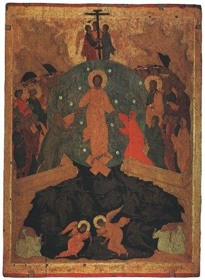 Сошествие в ад. Худ. Дионисий, 1495-1504 гг. Государственный Русский музей, Санкт-Петербург