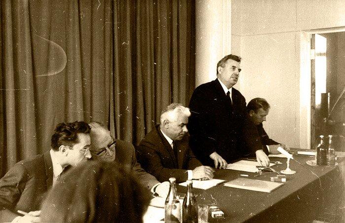 Доклад П. Шарова об итогах 1-го этапа эксперимента. 1970 г.