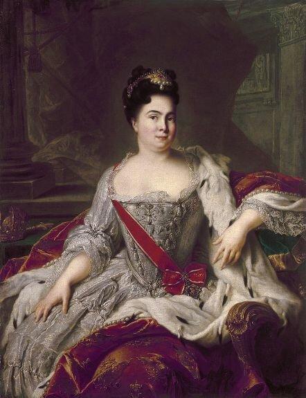 Портрет Екатерины I. Худ. Ж.-М. Натье, 1717 г., музей Эрмитаж, Санкт-Петербург