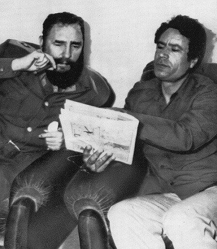 Кастро и Каддафи