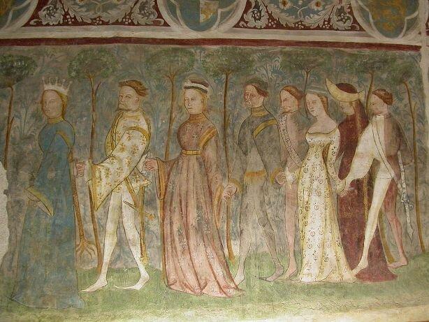 фрески из замка