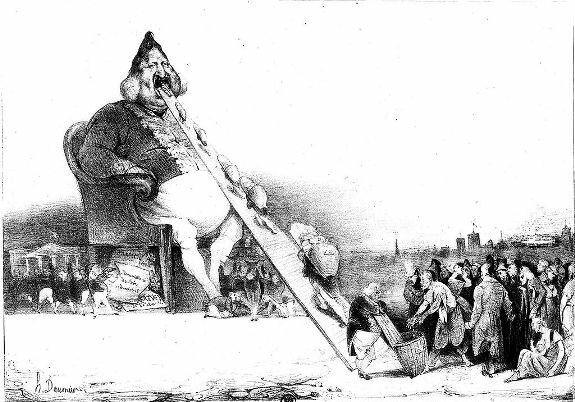 Гаргантюа. Иллюстрация Оноре Домье
