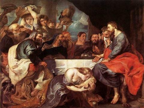Худ. Рубенс Христос у Симона-фарисея, 1618-1620