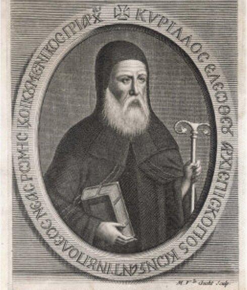 Патриарх Кирилл Лукариса. Гравюра из книги