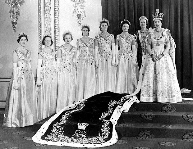 Елизавета II после коронации. 1953 г.