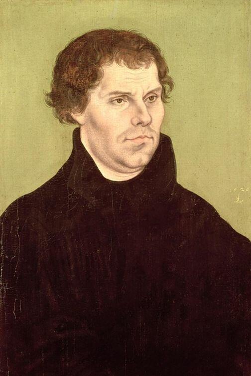 Худ. Л. Кранах Старший. Портрет Мартина Лютера, 1526 г.