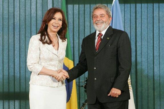 Лула и президент Аргентины Кристина Киршнер. Фото: 2007 г.