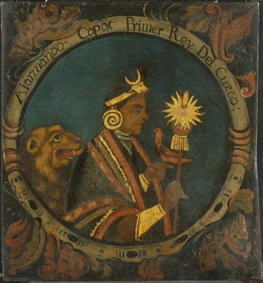 Манко Капак. Первый инка. Неизв. худ., середина XVIII в., Бруклинский музей, Нью-Йорк, США