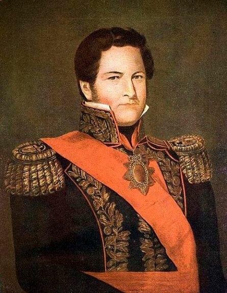 Портрет Мануэля Росаса. Худ. К. Дескальци, 1840 г., Национальный исторический музей, Буэнос-Айрес, Аргентина
