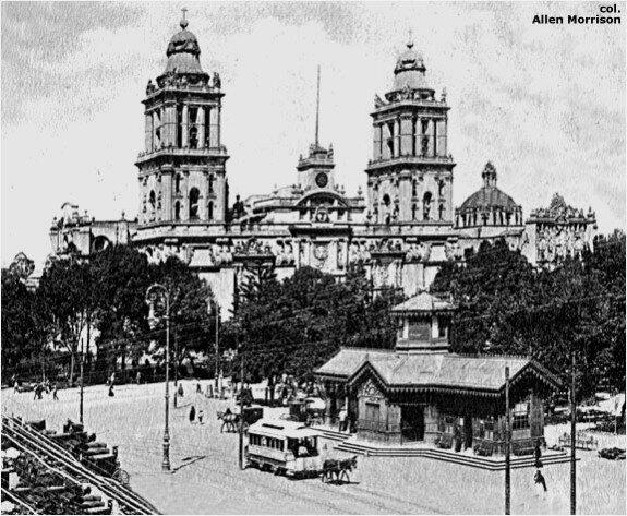 Столица Мексики в 1900 г.