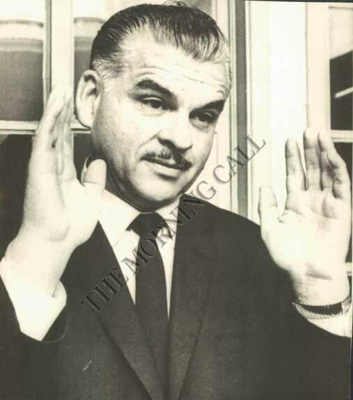 Мендес Монтенегро на пресс-конференции. Фото: 1966 г.