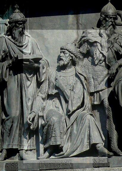 Владимир Мономах на Памятнике «1000-летие России» в Великом Новгороде