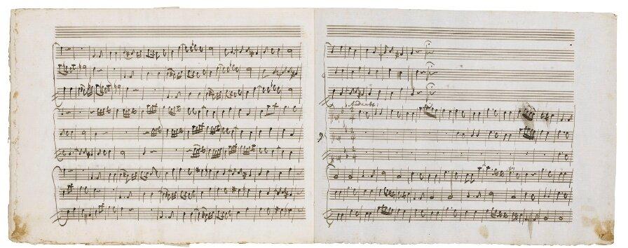 Рукопись Моцарта Stabat Mater. Фото лота с сайта Сотбис.