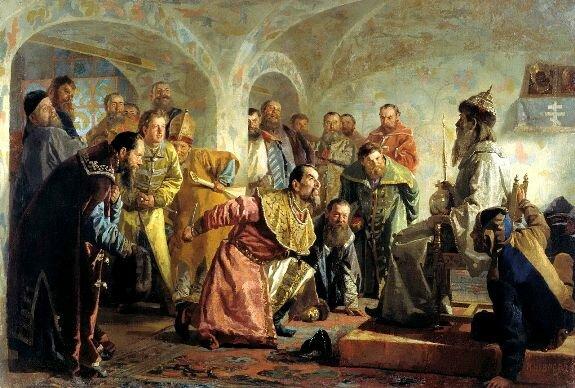 Опричники. Худ. Н. Неврев, ранее 1904 г., Государственный музей изобразительных искусств Кыргызстана, Бишкек