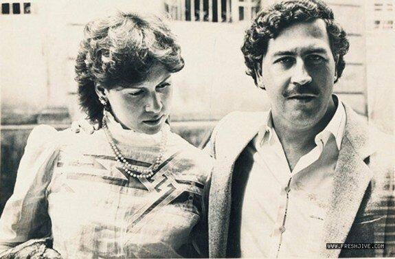 Пабло Эскобар с женой