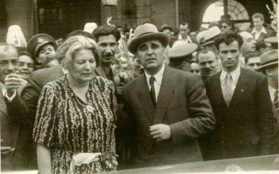 Анна Паукер и Георгиу Деж. Фото: 1950-е гг.