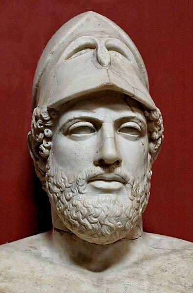 Бюст Перикла. Мрамор, римская копия с греческого оригинала. прибл. 430 г до н. э., Музеи Ватикана