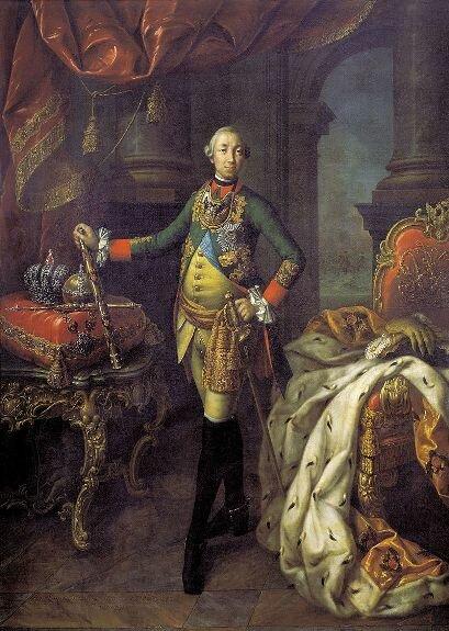 Портрет Петра III. Худ. А. Антропов, 1762 г., Третьяковская галерея, Москва
