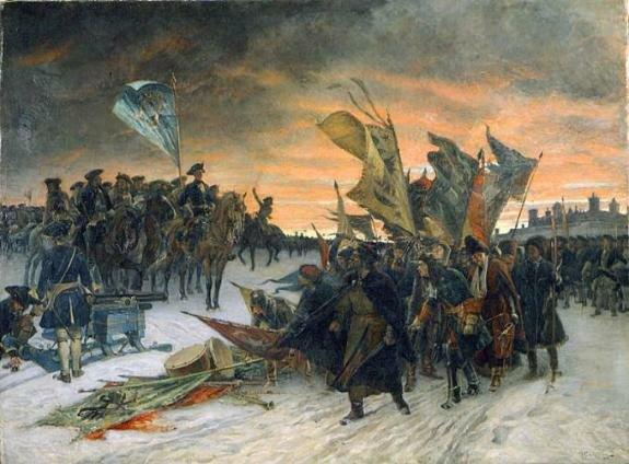 победа шведов при Нарве