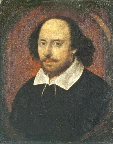 Портрет У. Шекспира, написанный предположительно при жизни, неизв. художник. Национальная портретная галерея. Лондон, Великобритания