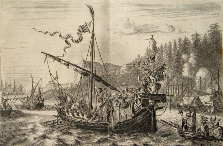 Стенька Разин бросает княжну в воду