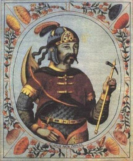 Изображение Рюрика в «Титулярнике». 1672 г.