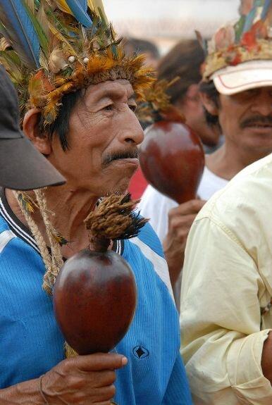 Шаман гуарани. Современное фото