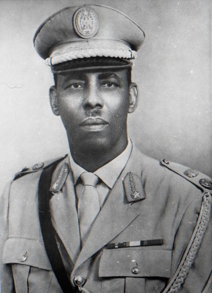 Президент Сомали М. Сиад Барре. Официальный портрет в военной униформе. 1970-е гг.