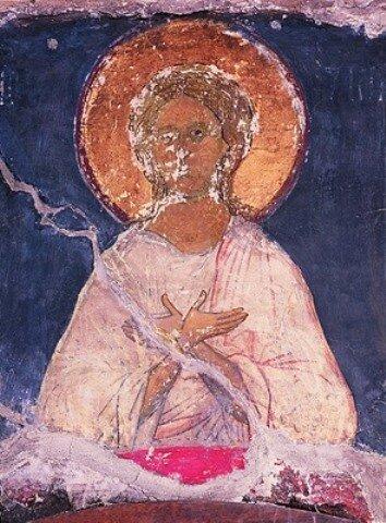 Икона «Спас Благое Молчание. Ангел Великого Совета». Фреска Успенского собора Московского Кремля
