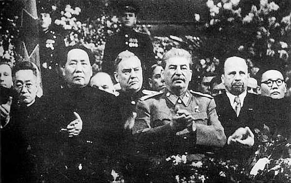 Сталин и Мао Дзедун