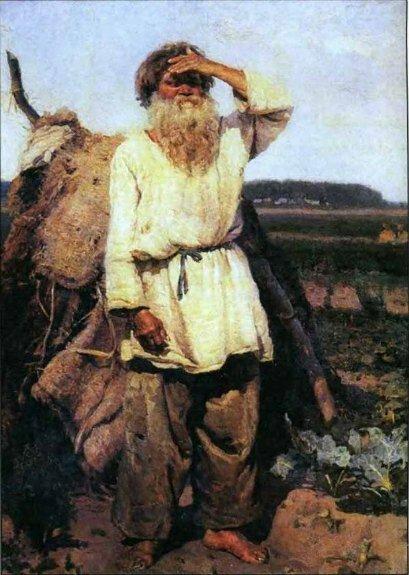 Худ. В. Суриков. «Старик-огородник»