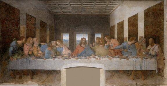 фреска Леонардо Тайная вечеря