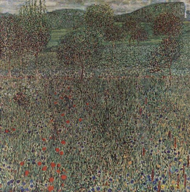 Цветочное поле Климта