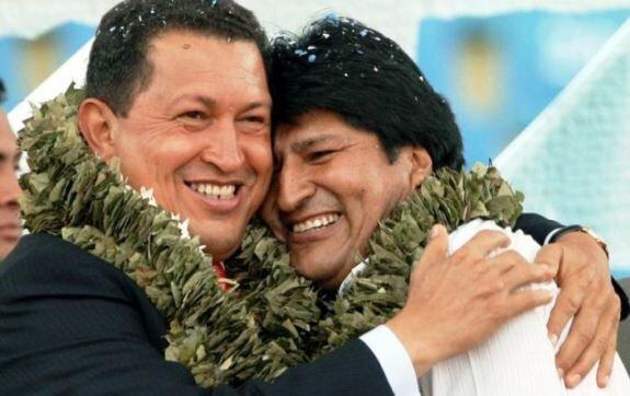 Моралес с Уго Чавесом